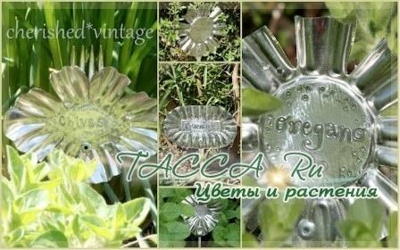 Поделки из пластиковых бутылок. Маркеры для цветов.